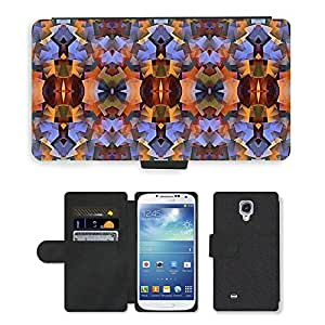 Hot Style Cell Phone Card Slot PU Leather Wallet Case // M00152005 Geometric Abstract Background Pattern // Samsung Galaxy S4 S IV SIV i9500