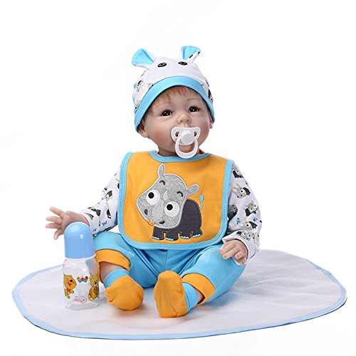 Pinky Reborn Baby Doll Realistic Looking Lovely Baby Girl 22 Inch 55cm Soft Silicone Newborn Dolls Toddler Xmas Present