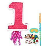 Girl's 1st Birthday Pinata Kit - Party Supplies