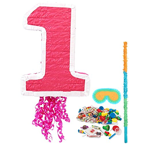 Girl's 1st Birthday Pinata Kit - Party Supplies by Birthday Express Kits
