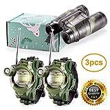 Petask Walkie Talkies and Binoculars for Kids - Outdoor Walkie Talkie Watch Kit for Boys and Girls + Kids Binoculars