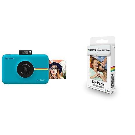 13c0656c86cc2 Polaroid SNAP Touch - Cámara digital con impresión instantánea y pantalla  LCD (azul) con tecnología Zero Zink + Polaroid M230  Amazon.es  Electrónica