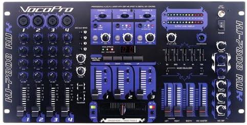 B000SB1RC6 VocoPro KJ-7808RV Professional KJ/DJ/VJ Mixer with DSP Mic Effect and Digital Key Control 51qiejEUhTL.
