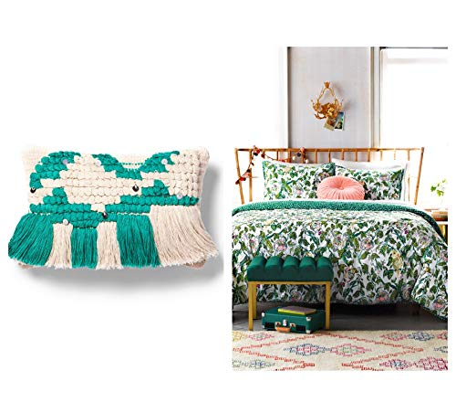 Shop,Pick,N Ship Rest Well in The Garden of Parakeet & Flowers! 1 Twin/XL Twin Comforter, 1 Standard Sham, 1 Decor Pillow! Enter Into The Vibrant Yet Peaceful ()