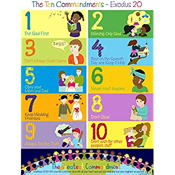 Transformative image pertaining to 10 commandments for kids printable