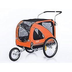 Sepnine Pet Dog Bike Trailer Orange - Large Size