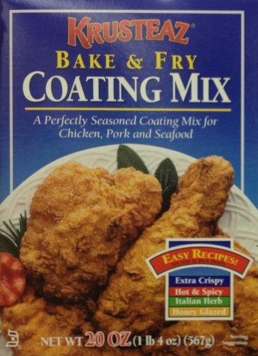 Krusteaz Bake & Fry Coating Mix 20oz. (3 - Mix Coating Fry
