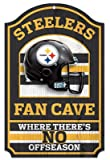 NFL Pittsburgh Steelers 11-by-17 inch Fan Cave No Offseason Wood Sign thumbnail