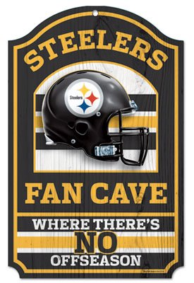 NFL Pittsburgh Steelers Fan Cave Wood Sign, 11