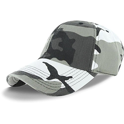 Plain 100% Cotton Hat Men Women Adjustable Baseball Cap (30+ Colors) (City - Cap Youth Camo Adjustable