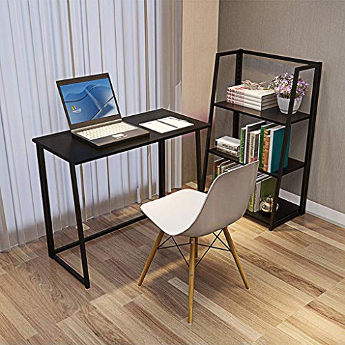 Sodoop Folding Computer Desk, Simple Study Sofa Side End Table, Portable Fold Workstation Laptop Table Writing Bed Holder Office Desk Workstation Outdoor Picnic Table