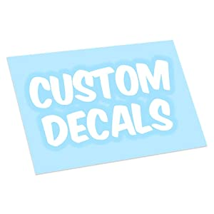 Custom Vinyl Decal Sticker - Make Your Own Personalized Decals - Car/Window/Laptop/Bottle/Glassware/Wedding/Business - Any Text/Image/Logo