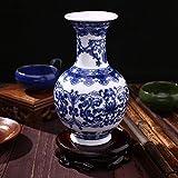 Kicode Untique Stunning Traditional Chinese Blue And White Porcelain Auspicious Ceramic Elegant Ornament E Pattern