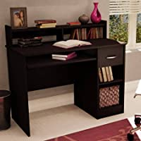 South Shore Smart Basics Small Desk,Chocolate