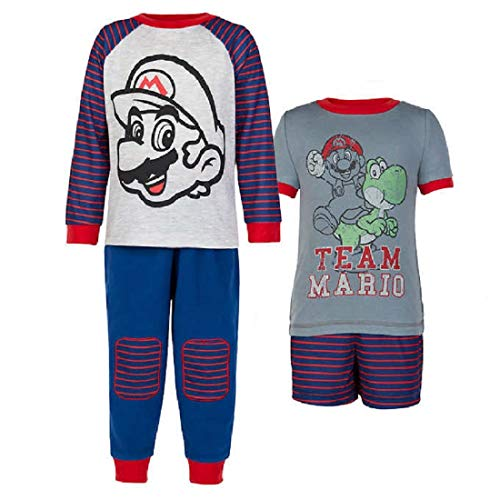 Komar Kids Super Mario Yoshi 4 Piece Sleepwear Pajama Set (5)