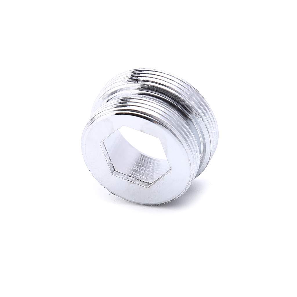 JENOR Adaptador de metal s/ólido para grifo de cocina con rosca exterior para ahorro de agua