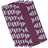 E by design Something's Fishy, Animal Print Napkin, 19 x 19'', Purple