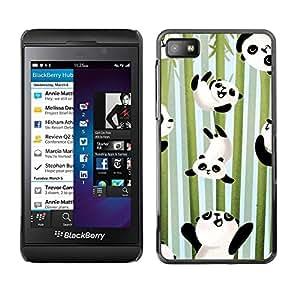 Paccase / SLIM PC / Aliminium Casa Carcasa Funda Case Cover - Happy Cute Bamboo Japan Kids - Blackberry Z10