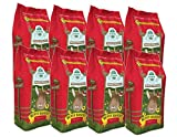 Oxbow BUNNY BASICS Food High-Fiber Timothy Pellet for Rabbits 5 Pounds 8 PACK