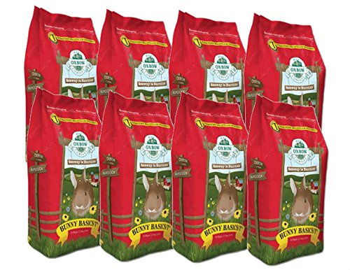 Oxbow BUNNY BASICS Food High-Fiber Timothy Pellet for Rabbits 5 Pounds 8 PACK by Oxbow