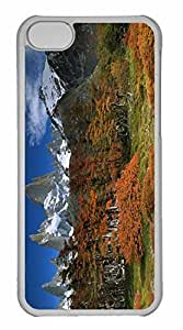 iPhone 5C Case, Personalized Custom Fitzroy And Beech Trees In Autumn Los Glaciares National Park Patagonia Argentina for iPhone 5C PC Clear Case