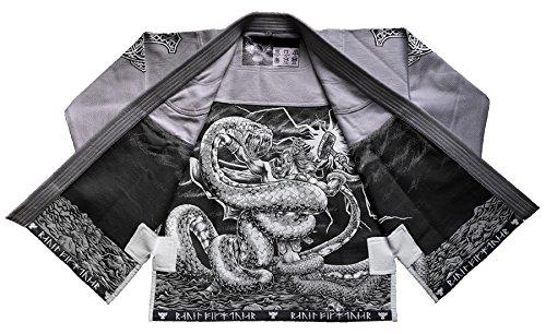 Raven Fightwear Men's Thor Jiu Jitsu Gi Grey A2