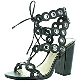 Jessica Simpson Women's Kariss Dress Sandal, Black, 8 M US