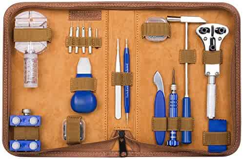 Readaeer 155 Pcs Portable Watch Repair Tools Kit Set Back Case Opener Remover
