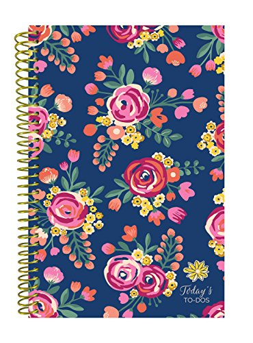 bloom daily planners Bound To-Do List Book - UNDATED Daily Planning System Tear Off Calendar Pages - 6 x 8.25 - Vintage Floral