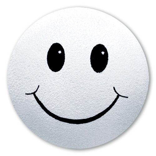 - Tenna Tops - White Smiley Happy Face Antenna Topper / Antenna Ball / Mirror Dangler