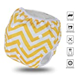 Letcome Reusable Swim Diaper, Adjustable & Stylish Fits Babies Diapers Sizes N-5 (13-66lbs) Ultra Premium Quality for Eco Friendly Baby Shower Gifts & Swimming Lessons Little Girl Boy Swimsuit