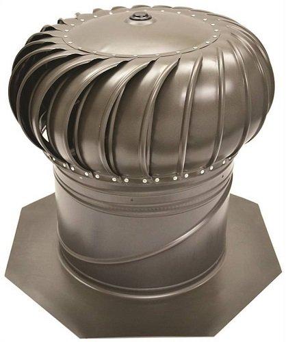 Ll Building Gic12ww Internally Braced Turbine Ventilator, 12'', Weathered Wood