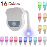 Toilet Bowl Night Light Gadget Funny LED Motion Sensor Presents for Seat Novelty Bathroom Accessory Gift Cool Fun Colours Fathers Day Gifts for Men Step Dad Grandad from Daughter Son Wife