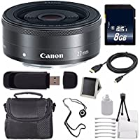 Canon EF-M 22mm f/2 STM Lens + 8GB SDHC Class 10 Memory Card 6AVE Bundle 20