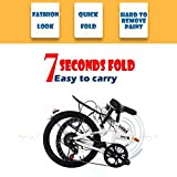 20 Inch Folding Mountain Bike,7 Speed Mini Compact