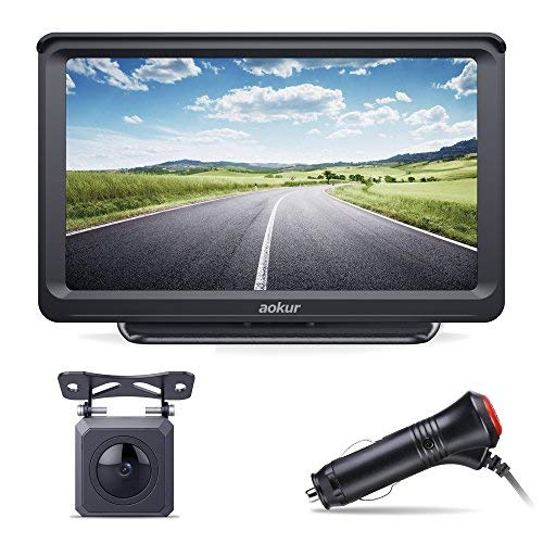 Aokur Backup Camera with 7'' HD ISP Monitor, Wide Waterproof Starlight Night Vision Camera for Car/Trucks/Camper License Plate Reverse Parking Assistance