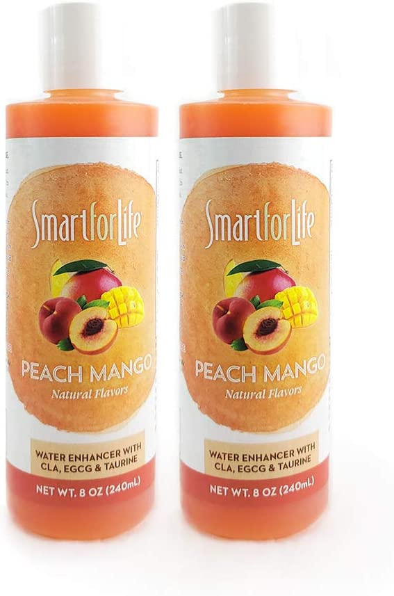 SMART FOR LIFE Peach Mango Electrolyte Water Enhancer - No Calories Sugar Free Water Flavoring - No Sodium Caffeine Free - Great Drink Mix for Water Flavor