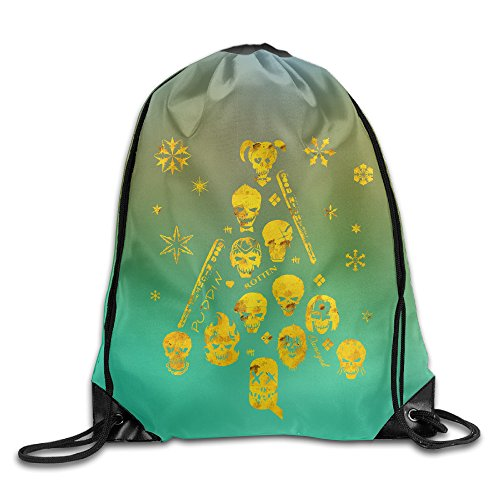 Costume Hitman 47 (Unisex Xmas Tree Suicide Squad Christmas Sports Drawstring Backpack Bag)