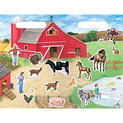 Create-A-Scene Magnetic Playset - Farm: Toys & Games