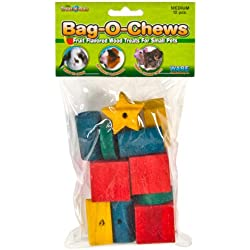 Ware Manufacturing Pine Wood Bag-O-Chews Small Pet Treat, Medium - Pack of 12