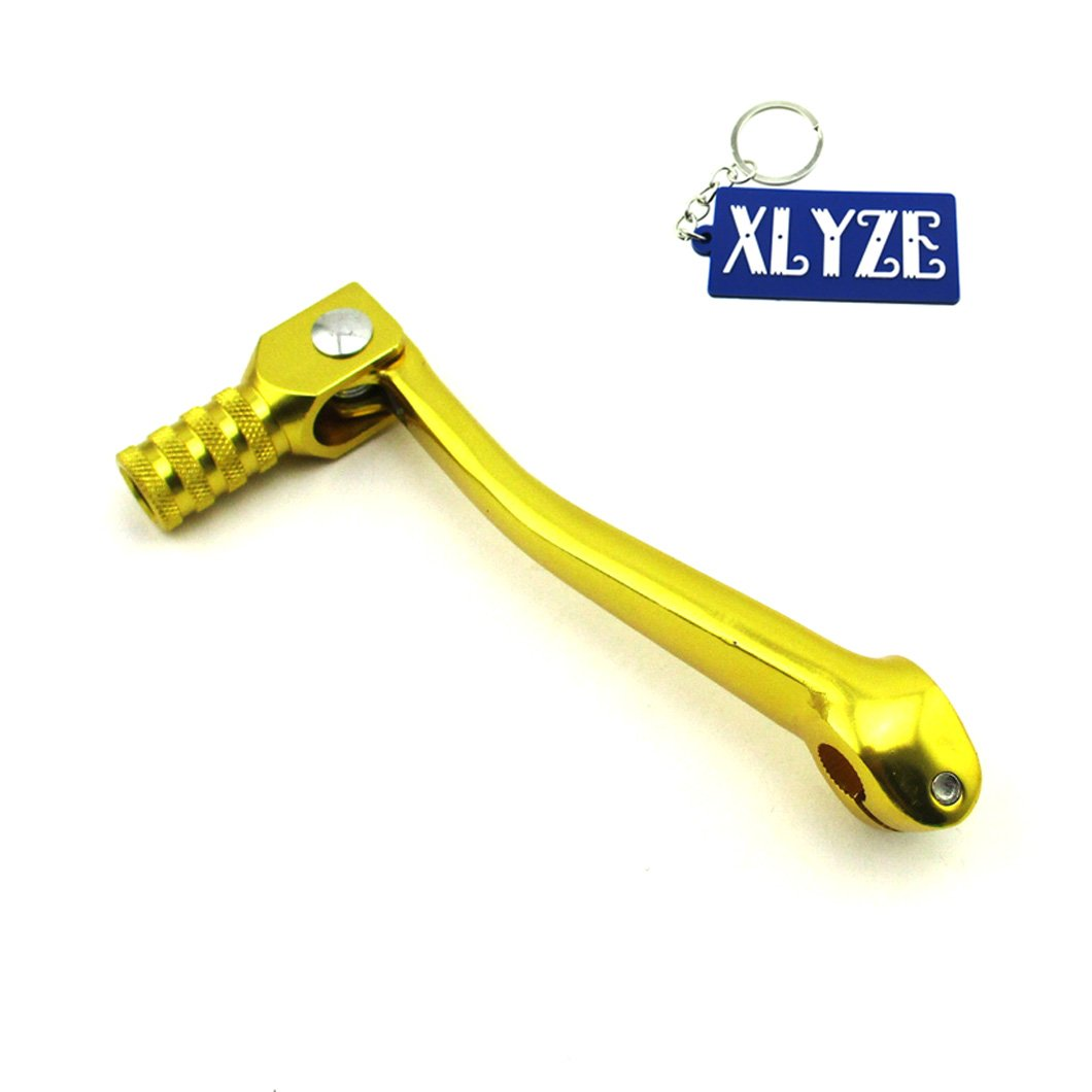 XLYZE CNC Aluminum Folding Gear Shift Lever Gold for 50cc 110cc 125cc 140cc 150cc 160cc Trail Dirt Pit Bike SSR IMR YCF
