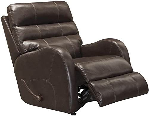 Catnapper Power Wall Hugger Upholstered Recliner in Coffee
