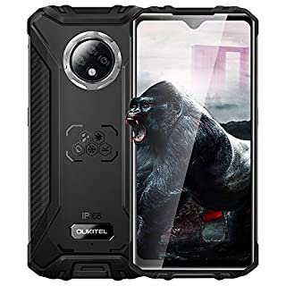 OUKITEL WP8 Pro Rugged Phones - Unlocked Smartphones, 5000mAh MT6762D,IP68 Waterproof Cell Phones 6.49 inch Android 10.0 4+64 ROM 8MP+16MP Global Version, NFC(Black)