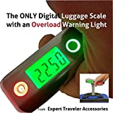 Best Digital Luggage Scale UNIQUE Excess Overload Warning Light Free Batteries