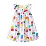 VIKITA Girls Cotton Flower Short Sleeve Casual Dress MS0301 5-6 Years