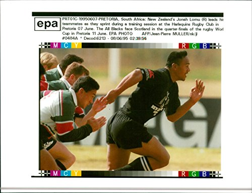 Vintage photo of 1995 Rugby World Cup (jonah lomu)