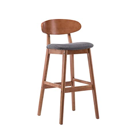 Magnificent Amazon Com Yxnn Solid Wood Bar Stool With Backrest Home Dailytribune Chair Design For Home Dailytribuneorg