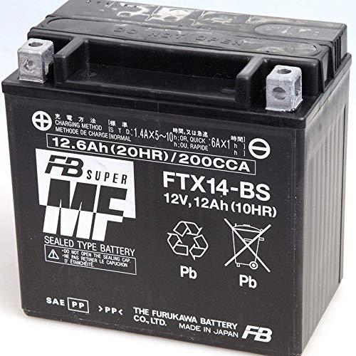 Batteria Moto Scooter FTX14-BS per Piaggio MP3 FB Battery Guzzi V7 YTX14-BS
