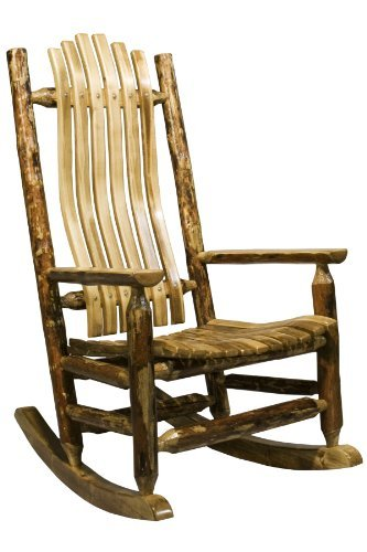 Montana Woodworks MWGCLR Glacier Country Collection Log Rocker ()