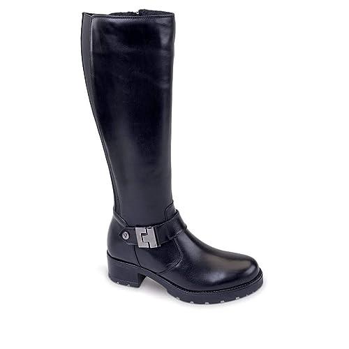 VALLEVERDE Donna Stivale Nero 49552 Scarpe in Pelle Autunno Inverno 2019 EU  36  Amazon.it  Scarpe e borse f8cfc46acff